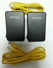 Huawei Talktalk Powerline Adapters PT200AV + 2 x Ethernet Cables (ANY ISP)