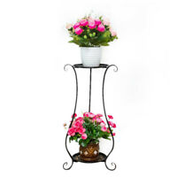2 Tier Plant Stand Dispaly Shelf Ladder Flower Planter Pot Garden Outdoor Rack