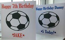 personalised Birthday card man u football fan  daughter grandad son grandson Dad