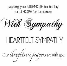 With Sympathy Sayings Clear Unmounted Rubber Stamp Set KAISERCRAFT CS924 New