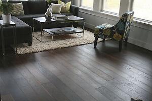 """6"""" Brushed Vintage Noir UV Oiled Engineered Floating Wood Floor Flooring Sample"""