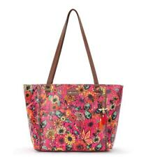 Sakroots Artist Circle Raspberry in Bloom Medium Satchel, new with Tags