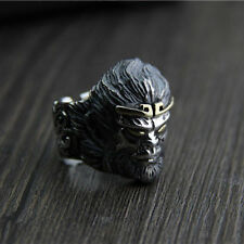 Heavy Solid 925 Sterling Thai Silver Ring Mythical Monkey King Mens Size 9 to 12