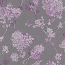 RASCH FLORENTINE FLORAL MOTIF PATTERN TRADITIONAL TEXTURE WALLPAPER GREY PURPLE