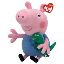 "Peppa Pig George Plush Soft Toy, Dinosaur, Ty Beanie Babies 7"" (18cm)"