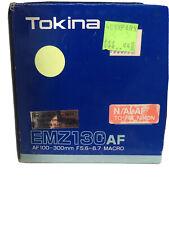 Tokina EMZ 130AF Lens AF100-300mm F5.6-6.7 Macro For Nikon