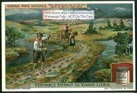 Earth Bridge Across High Bavarian Marsh 1920s Trade Ad Card