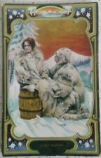 Couple in Furs A Cold Reception Embossed Wildt & Kray To The Parrot Forest Green