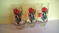 AmericanGreetings Vintage Holly Hobbie Coca Cola Limited Edition Glass set of 3