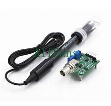 Liquid PH0-14 Value Detect Sensor Module + PH Electrode Probe BNC for Arduino
