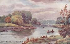 Artist Drawn, River Thames, Nr BRENTFORD, Middlesex