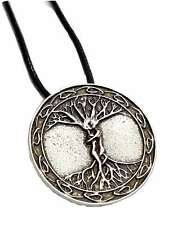 Odins Ask & Embla Ash Elm Tree of Life Masculine Feminine Pendant Cord Necklace