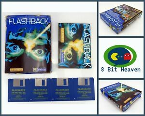 FLASHBACK BY U.S. GOLD / DELPHINE FOR COMMODORE AMIGA - TESTED & WORKING