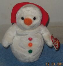 TY Chillin The Snowman Beanie Baby plush toy Christmas Xmas