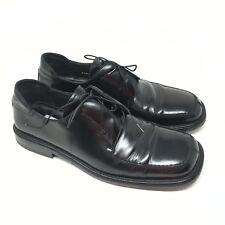 Men's Mezlan Bargino Shoes Oxford Size 10M Black Leather Apron Toe Made Spain K5