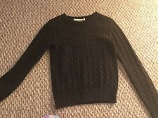 Tommy Hilfiger Womens Black Cable Knit Sweater Size Small