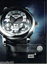 PUBLICITE ADVERTISING 056  2010  Mont Blanc montre Automatic Nicolas Rieussec