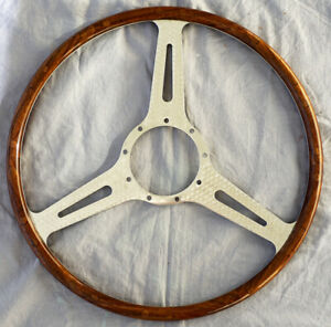 Austin-Healey Le Mans Wood Rimmed Steering Wheel