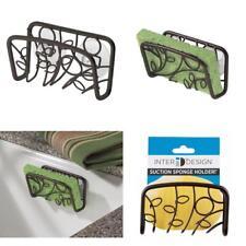Sink Sponge Holder for Soap Suction Rack Bronze Kitchen Bathroom Organizer Bar