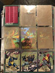 Impel, Flair, Fleer Marvel Super Heroes & X-Men Card Lot Of 415 W/ Binder