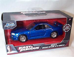 Fast & Furious Brians Nissan Skyline GT-R BNR34 1-32 Diecast model Jada 97185 RB