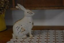 NEW PRIMITIVE FARMHOUSE COUNTRY SITTING BUNNY RABBIT SPRING HOME DECOR