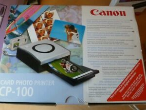 Canon CP-100 Card Photo Printer little used, camera dock and cassette feed paper