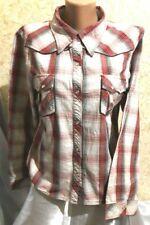 E-vie Women's Shirt Blouse Tunic Top 100% Cotton Size 16/44