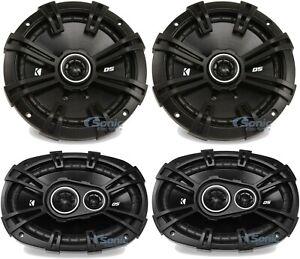 """2) KICKER 43DSC6704 6.75"""" Car Speakers + 2) KICKER 43DSC69304  6x9"""" Speakers"""