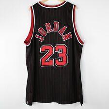 VTG Nike Team Chicago Bulls Jordan 23 Jersey 1984 Pinstripe Sz 60 5XL 8403