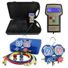 AC Manifold Gauge Set R134a R22 R12 HVAC W/ Digital Refrigerant Charging Scale