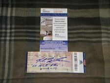 "KYLE SCHWARBER SIGNED ""1ST MLB HR"" 6/18/15 HOME RUN JSA ROOKIE COA TICKET STUB"