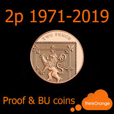 *UK PROOF & BU 2p Two Pence Coins 1971-2019 Coin Hunt - select year*