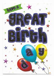 Happy Birthday Fun Foiled Greetings Card Kids/Girls/Boys Friend by Heartstrings