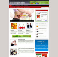 ALKALINE DIET AFFILIATE WEBSITE WITH STORE+ FREE HOSTING & NEW DOMAIN