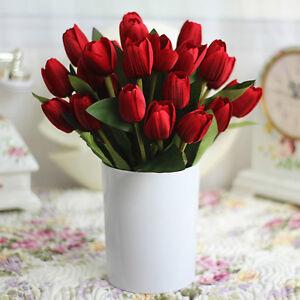 9 Heads Artificial Silk Tulip Flowers Bridal Hydrangea Party Wedding Decor Home