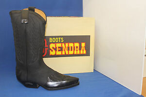Sendra Boots  cowboystiefel westernstiefel neu negro  leder handmade  gr. 42
