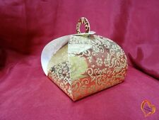 Boite à gâteau mariage ou baptême doré/doré grande taille x25
