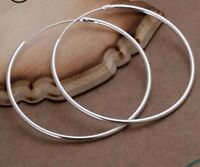 925 Sterling Silver Extra Large Hoop Earrings Women's Jewellery Aussie Ladies