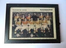 Original Manchester United F.C. Souvenir Team Picture March 1957 Framed