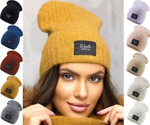 Womens Ladies Premium Wool Beanie Winter Natural Wool Alpaca Fleece Liner