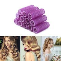12pcs DIY Hair Rollers Cling Curlers Formers Styling Rollers Magic Hair Curler