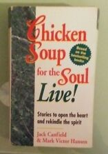 jack canfield / mark hansen  CHICKEN SOUP FOR THE SOUL LIVE !    CASSETTE TAPE