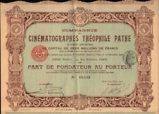 Cinematographes Theophile Pathe 1907 Paris France - Cinema Movie Film Radio