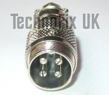 4 pin microphone line connector locking mike socket