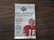 2001 Upper Deck Legends Football Factory Sealed Hobby Pack 5 Cards Unopen