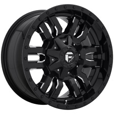 "4 Wheels Fuel 1Pc SLEDGE Gloss Black Milled 26x14"" Ford F250 Rims 8x170 -75"