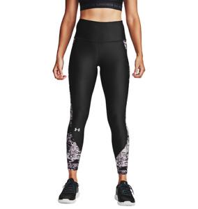 Under Armour HeatGear 7/8 Black Printed Leggings for Women Gym Yoga Active NEW