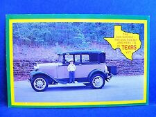 Postcard TX Sun Has Riz Sun Has Set & Here I Is in Texas Yet Boy & Old Car