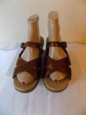 Dansko Metallic  Bronze Leather Slip On Cloggs  Shoes Shoe Size 39 (US 8.5-9 )